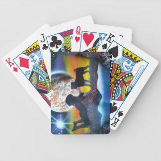 Ame mi barro amasado barajas de cartas