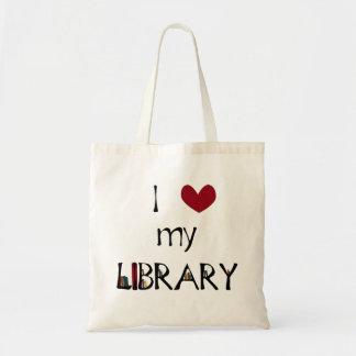 Ame mi biblioteca bolsa tela barata