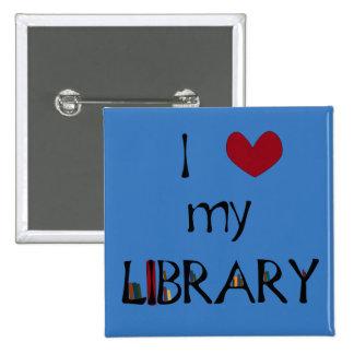 Ame mi biblioteca - cambie el color pin cuadrado