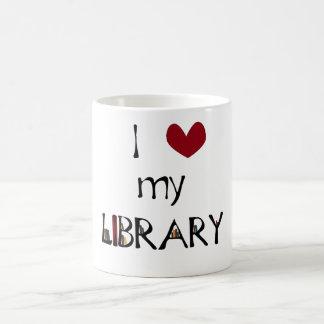 Ame mi biblioteca taza de café