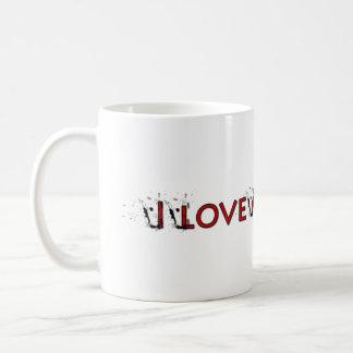 Ame mi café taza