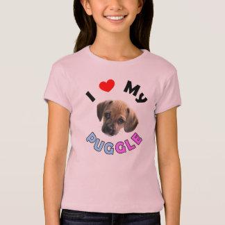 Ame mi camisa de los niños de Puggle