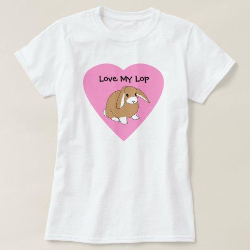 Ame mi camisa del conejo del Lop