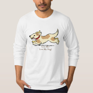 Ame mi camiseta del perro poleras