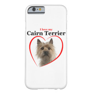 Ame mi caso del iPhone de Terrier de mojón Funda De iPhone 6 Barely There