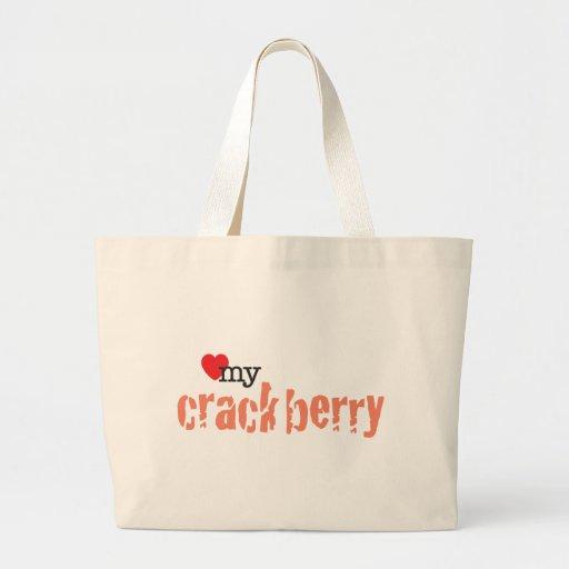 Ame mi Crackberry Bolsa Tela Grande