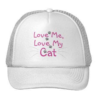 Ame mi gato gorros bordados