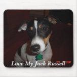 Ame mi Jack Russell Alfombrilla De Ratones