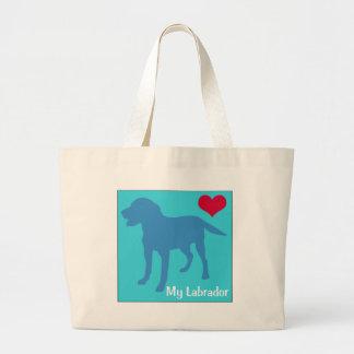 Ame mi Labrador Bolsa Tela Grande