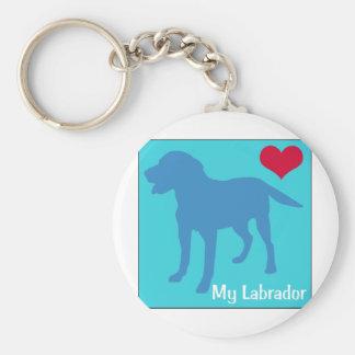 Ame mi Labrador Llavero Redondo Tipo Pin