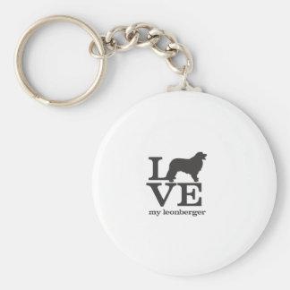 Ame mi Leonberger Llaveros Personalizados