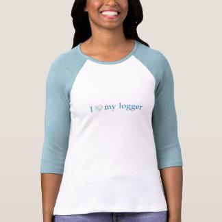 Ame mi maderero - corazón de la tela escocesa t-shirt