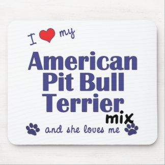 Ame mi mezcla americana de Terrier de pitbull (el  Alfombrillas De Raton