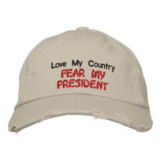 Ame mi miedo del país mi presidente gorras de beisbol bordadas
