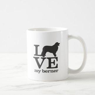 Ame mi perro de montaña de Bernese Taza De Café