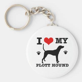 Ame mi perro de plott llavero personalizado