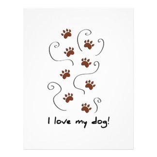 Ame mi perro membrete