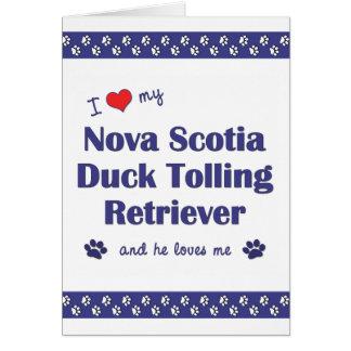 Ame mi perro perdiguero tocante del pato de Nueva  Tarjeta Pequeña