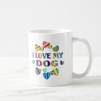 Ame mi perro taza de café