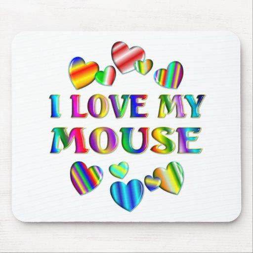 Ame mi ratón tapetes de ratón