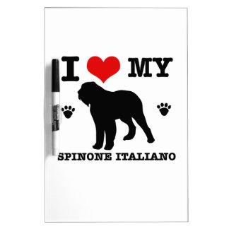 Ame mi spinone Italiano Tablero Blanco
