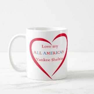 Ame mi taza de Sheltie del yanqui