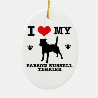 Ame mi terrier de Russell del párroco Adorno De Navidad