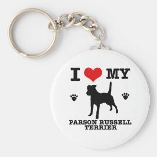 Ame mi terrier de Russell del párroco Llaveros Personalizados