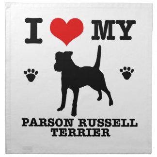 Ame mi terrier de Russell del párroco Servilletas