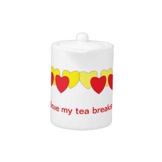 Ame mi tetera de las roturas de té