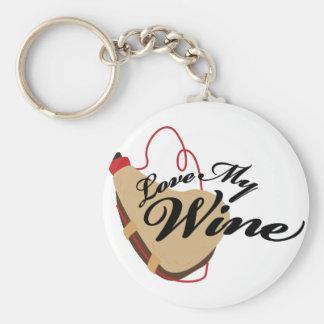 Ame mi vino llavero redondo tipo pin
