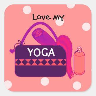 Ame mi yoga colcomanias cuadradas