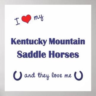 Ame mis caballos de silla de montar de la montaña  impresiones