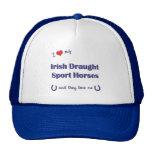 Ame mis caballos irlandeses del deporte del proyec gorras