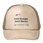 Ame mis caballos irlandeses del deporte del proyec gorro de camionero