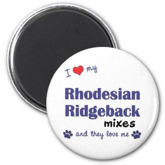 Ame mis mezclas de Rhodesian Ridgeback (los perros Imán Redondo 5 Cm