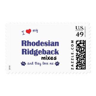 Ame mis mezclas de Rhodesian Ridgeback (los perros Sellos