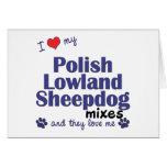 Ame mis mezclas polacas del perro pastor de la tie felicitación