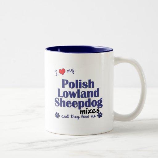 Ame mis mezclas polacas del perro pastor de la tie taza