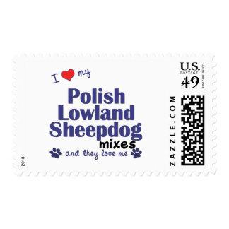 Ame mis mezclas polacas del perro pastor de la timbres postales