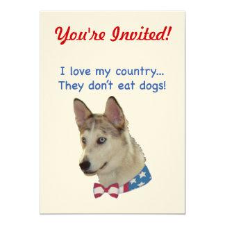 Ame mis perros de Ausky del país Invitación 12,7 X 17,8 Cm