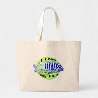 Ame mis pescados bolsa tela grande