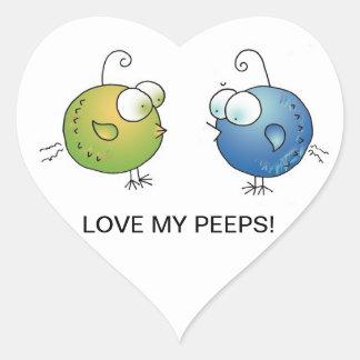 ¡AME MIS PÍOS! Pegatinas en abril McCallum del Pegatina Corazón Personalizadas