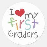 Ame mis primeros graduadores etiqueta redonda