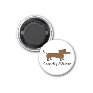 Ame mis regalos y ropa del perro de Weiner Imán Redondo 3 Cm