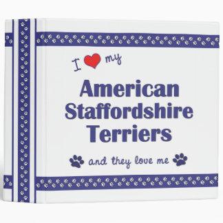 Ame mis terrieres de Staffordshire americano (múlt