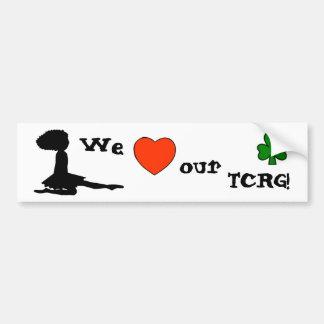 Ame nuestro TCRG - pegatina para el parachoques de Pegatina Para Auto
