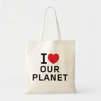Ame nuestro tote del planeta bolsas