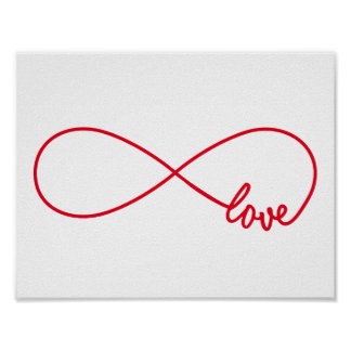 Ame para siempre, muestra roja del infinito, amor póster