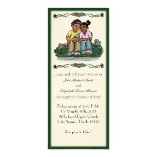 """Ame para siempre par indio/africano de la invitación 4"""" x 9.25"""""""